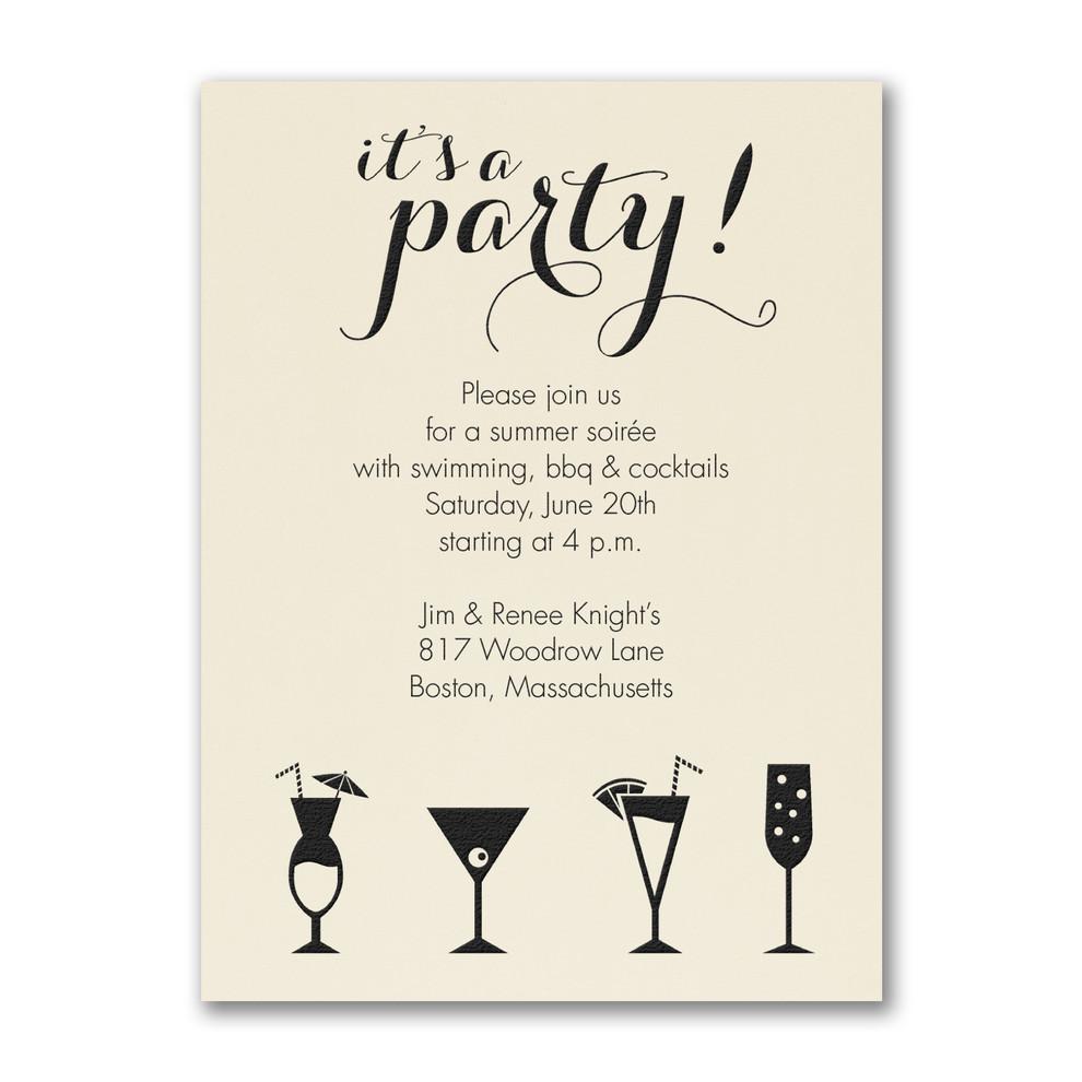 Invitation de fête