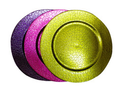 Purple,Pink charger plates