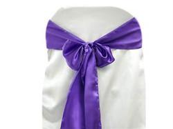 Boucle violet en satin