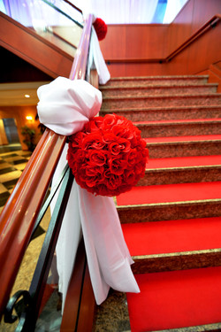 Red rose ball