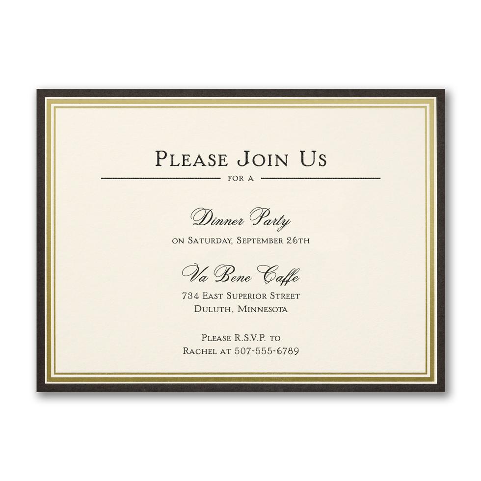Invitation de fête style classique