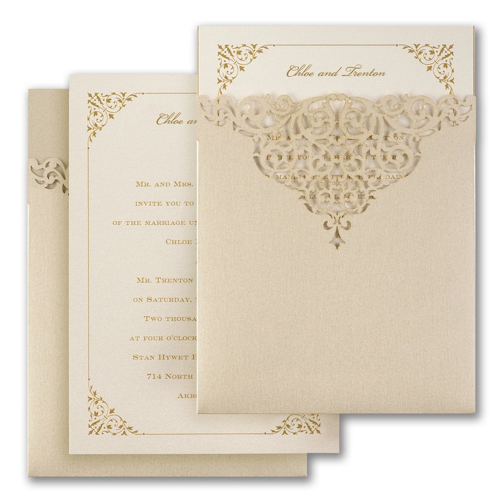 Wedding invitation with pocket