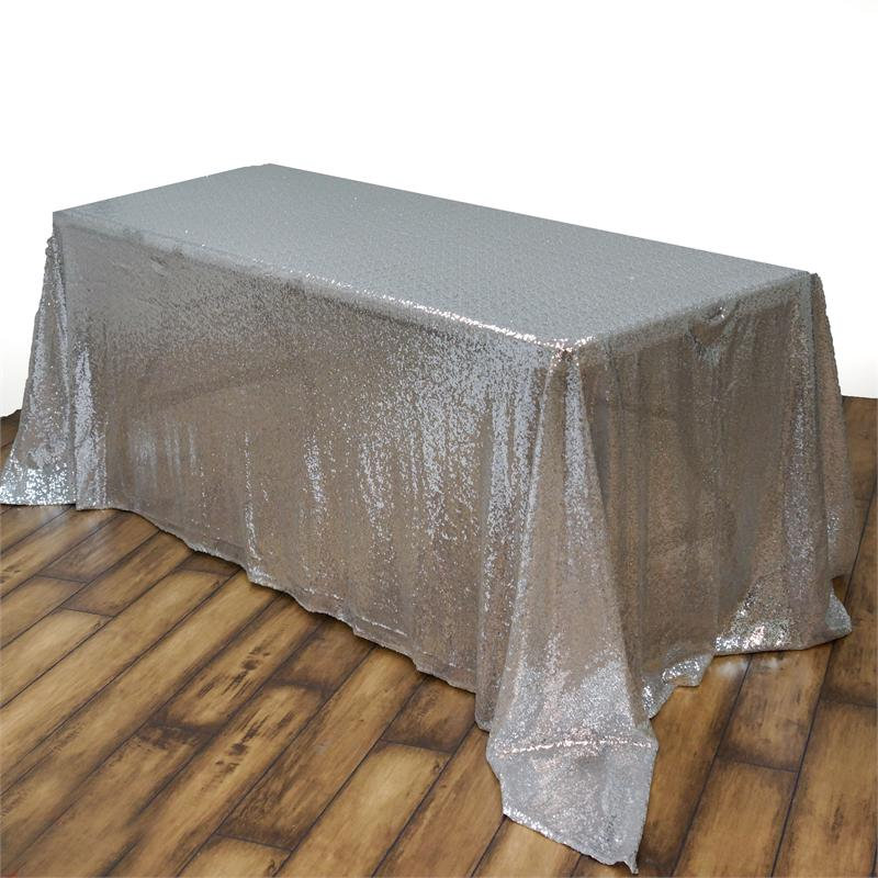 Silver Sequins Tablecloth