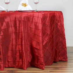 Nappe rouge pintuck