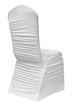 Housse chaise blanche ruched