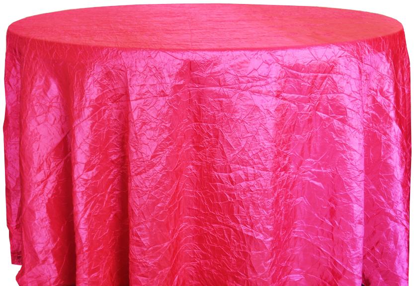 Fuchsia Crinkle Tablecloth