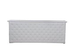 Bar blanc en cuir touffeter