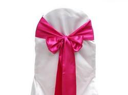 Boucle pink électrique en satin