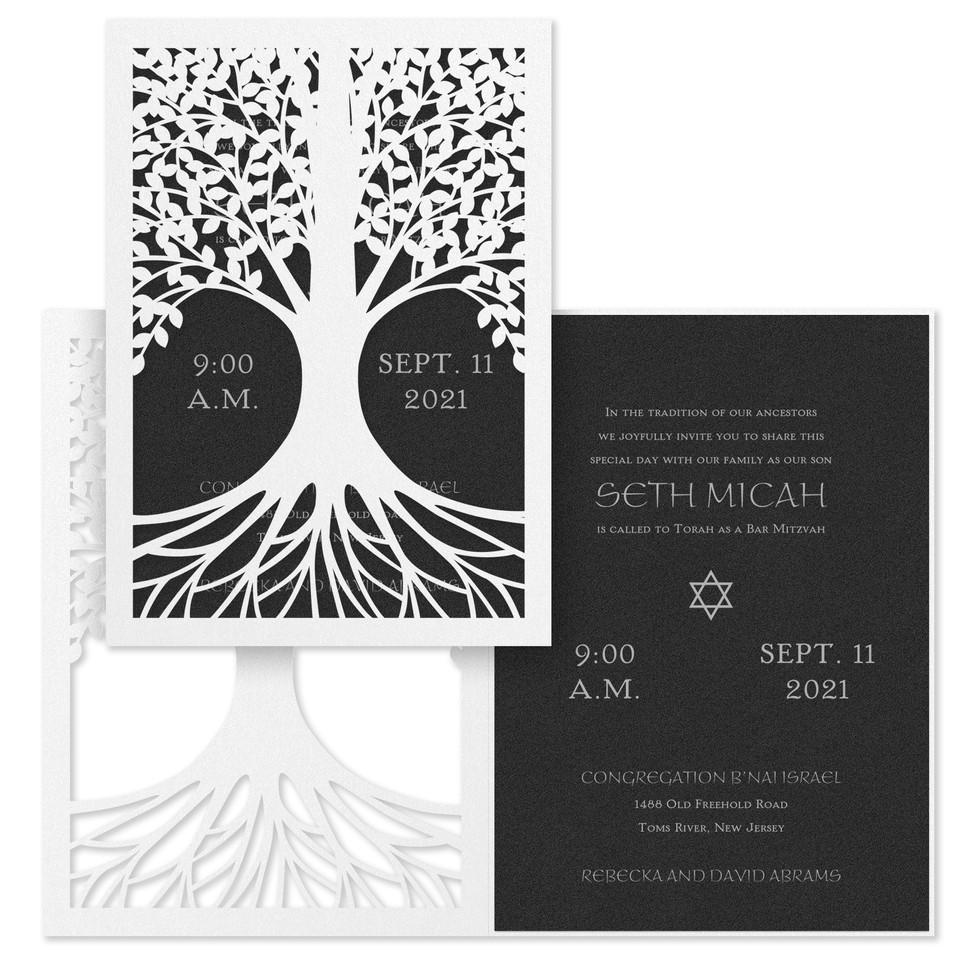 Bar Mitzvah invitation - Tree of life