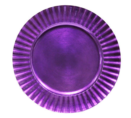 Purple charger plate with pattern