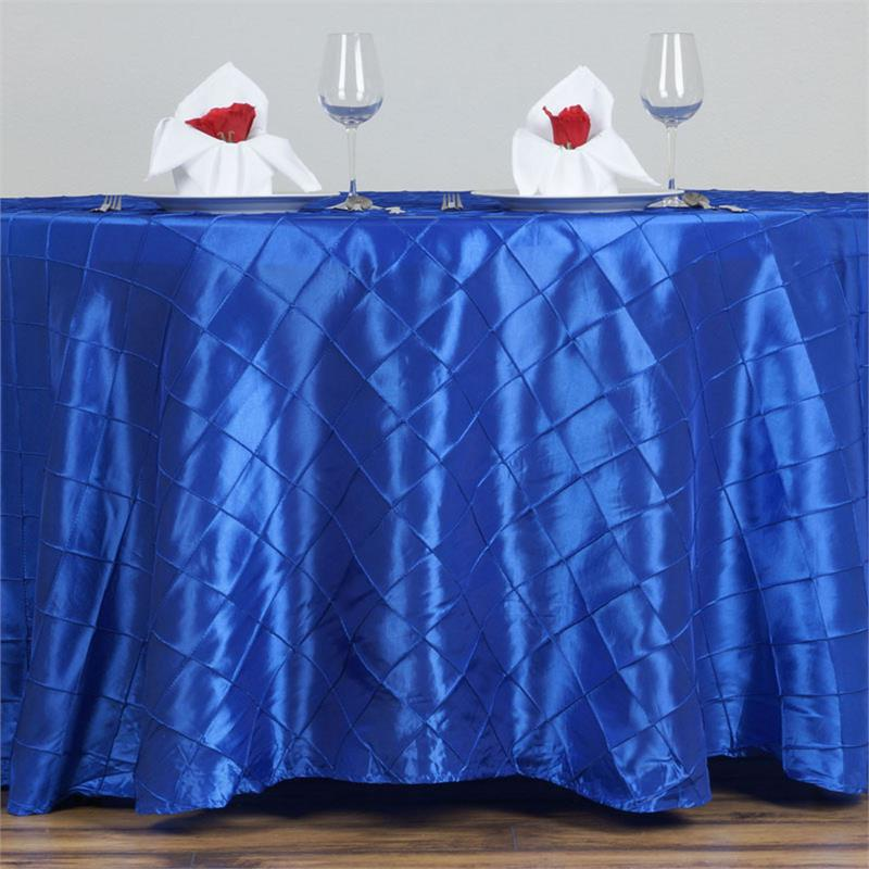 Royal Blue Pintuck Tablecloth