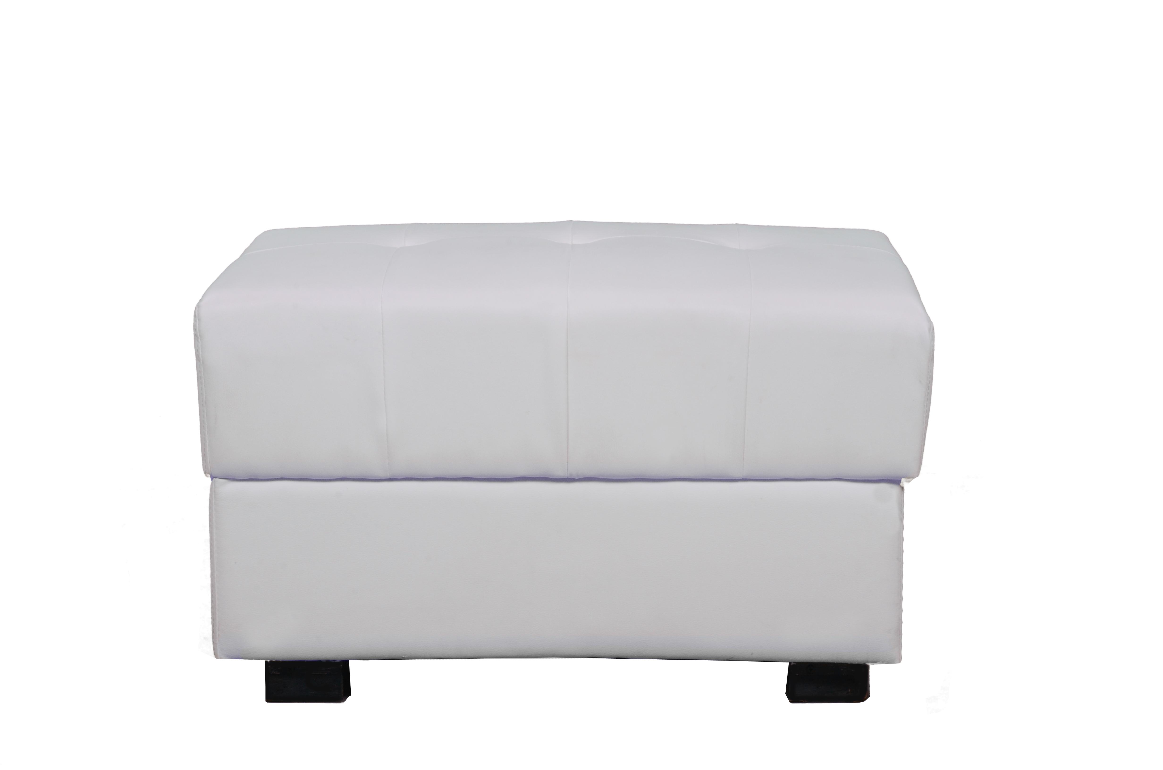 Blanc pouf moderne