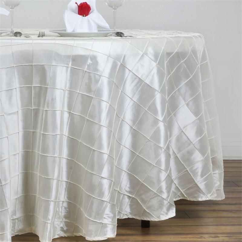 Ivory Pintuck Taffeta tablecloth