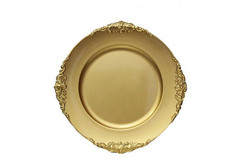 Gold Baroque Charger Plate