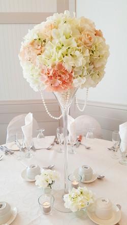 Centre de table avec fleurs
