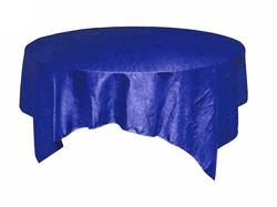 Royal Blue Crinkle Overlay