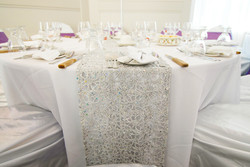 Chemical lace table runner