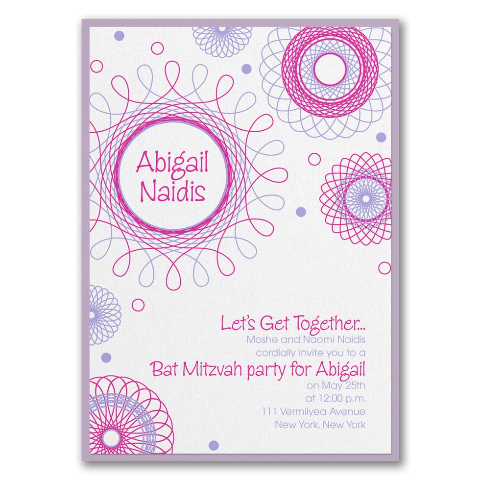 Bat Mitzvah party invitation