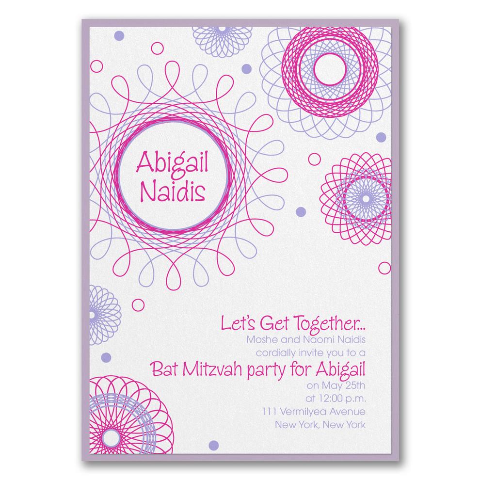 Invitation fête de Bat Mitzvah