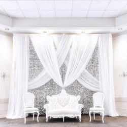 Silver sparkle backdrop