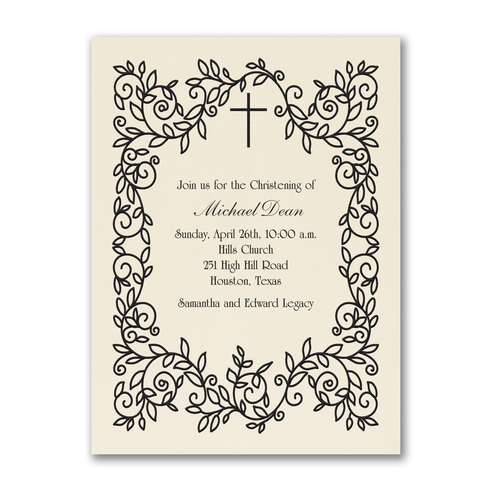 Invitation de baptême classique