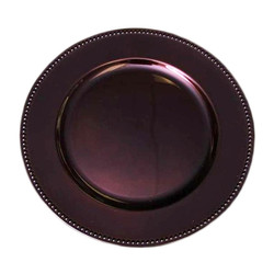 Brown charger plate