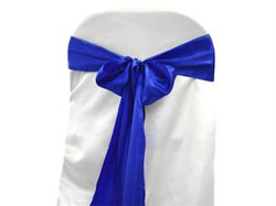 Boucle bleu marin en satin