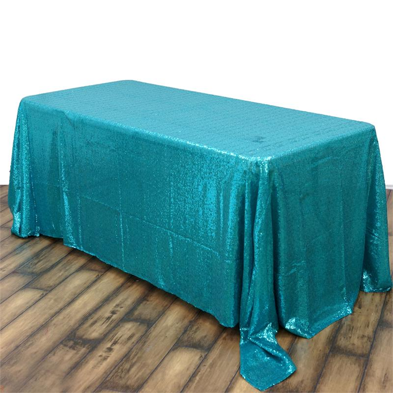 Turquoise Sequin Tablecloth