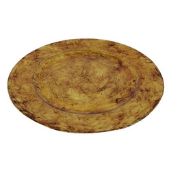 Brown Vintage Charger Plate