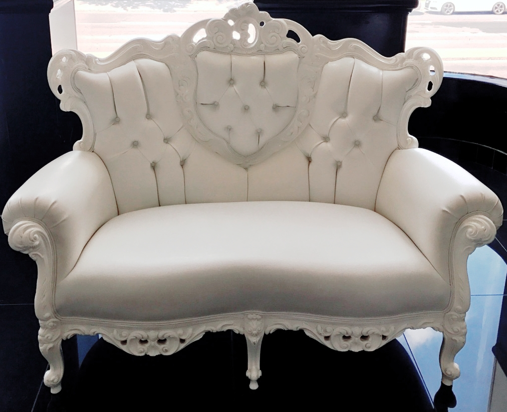 Baroque wedding loveseat