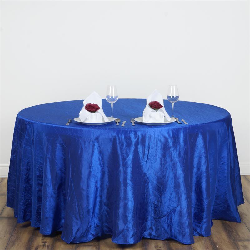 Royal Blue Crinkle Tablecloth