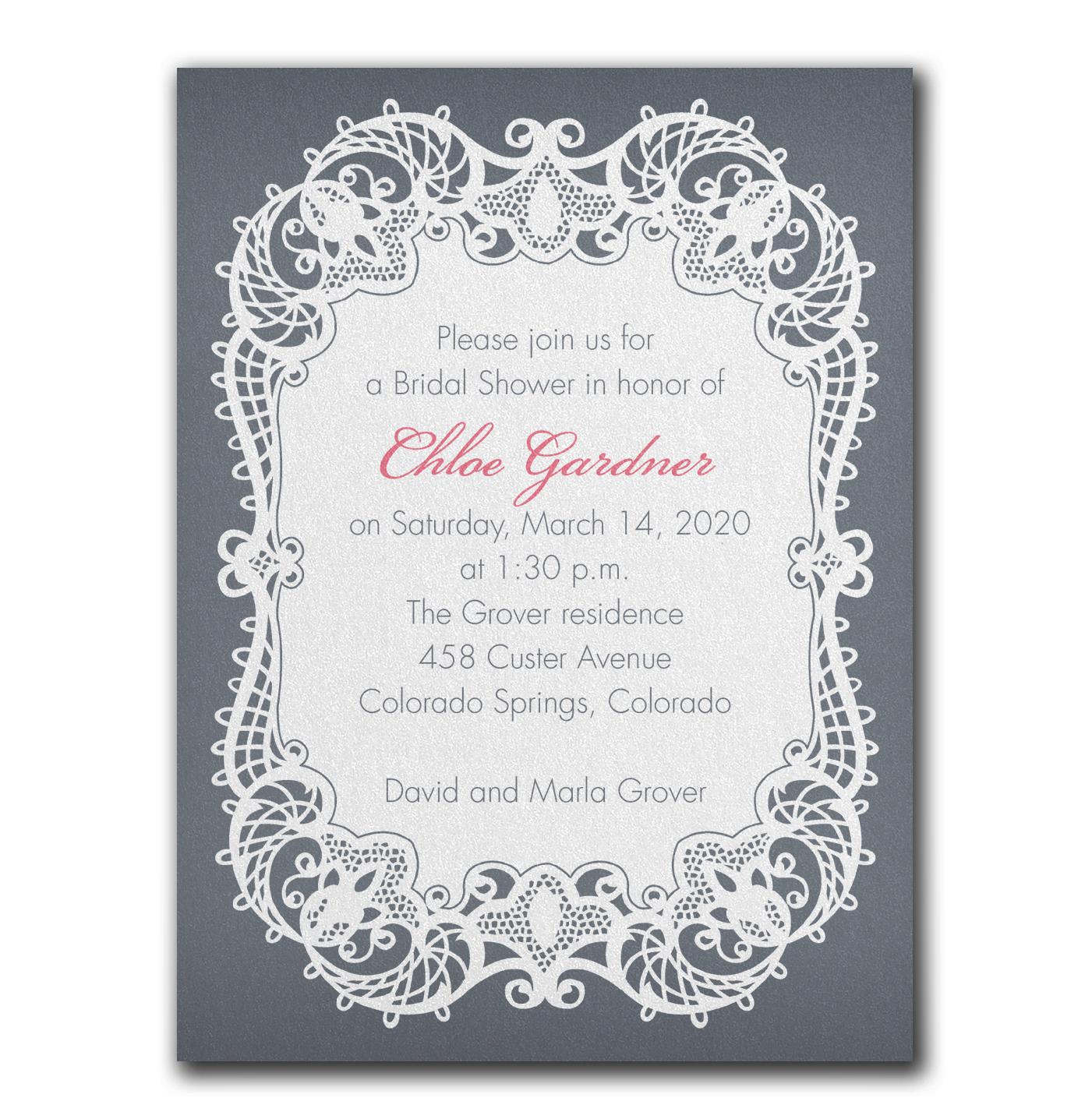 Invitation nuptiale