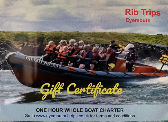 Gift Voucher - 1 hour full boat hire