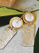 Unusual Earrings for Women from the Hammered Collection | Roca Jewelry Designs