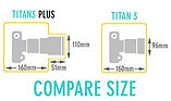 titan vs titan plus size compare - timela