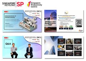 livestream greenscreen for Singapore pol