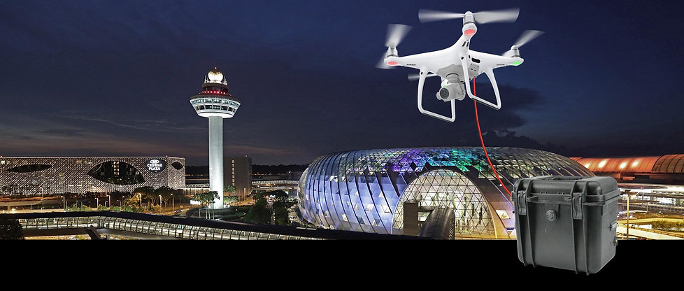 tethered drone filming in singapore chan