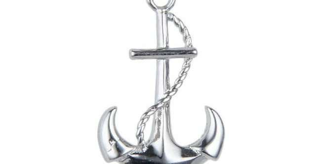 Consultant Anchors Away Sterling Silver Pendant