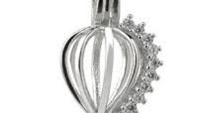 Frozen Heart Cage Pendant