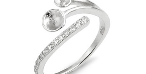 Mother's Love Sterling Silver Ring - adjustable