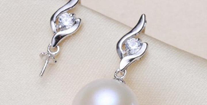 Loves Embrace Silver Earings