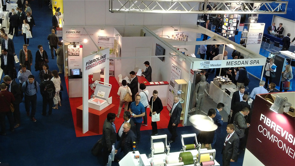 Fibroline news, releases and upcoming exhibitions. Dry powder impregnation technologies and process for nonwovens textiles foams and papers.