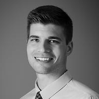 black and white headshot of Tyler Wortman