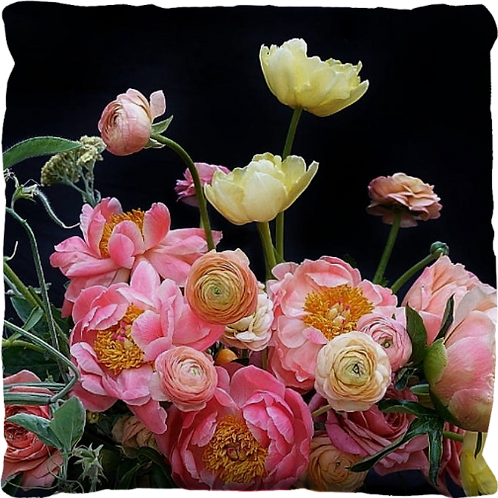 """Pillow Coral Peony 