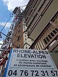 RAE LIFT Ascenseur de chantier SAFI rhone-alpes elevation Isère Drome Savoie Haute-Savoie
