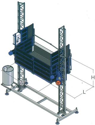 Ascenseur/monte-matériaux SAFI Delta 2100 kg