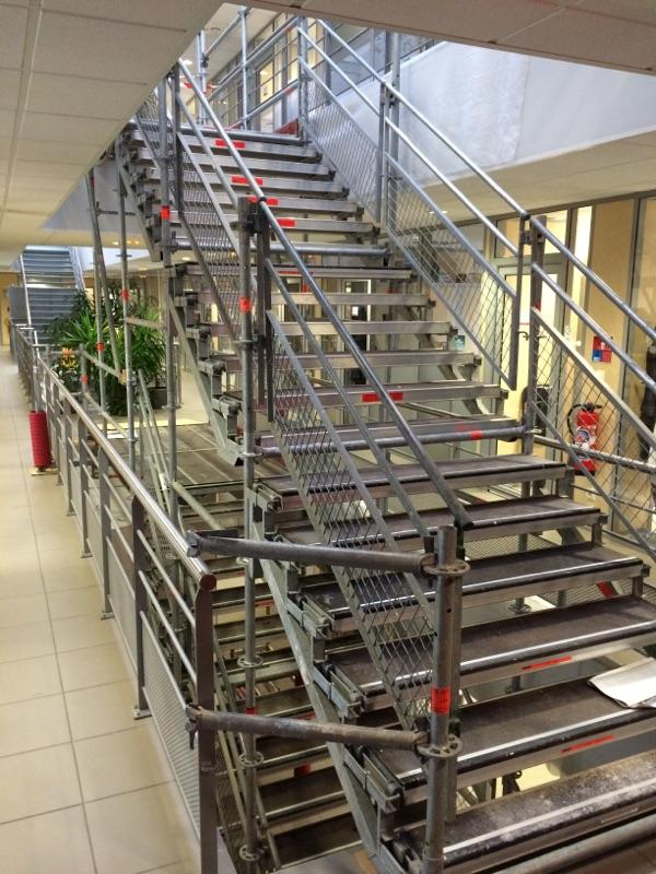 Escalier Public échafaudage