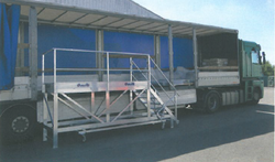 Plate-forme déchargement camions