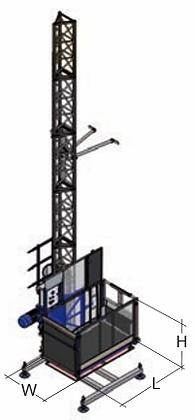 Ascenseur de chantier SAFI Gamma 800 kg