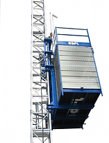 Monte-matériaux SAFI JUNIOR - Ascenseurs de chantier grenoble BTP hauteur mat charges echafaudages
